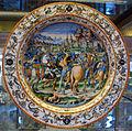 Urbino, bottega fontana, piatto a raffaellesche con cesare che libera prigioniero (da t. zuccari), 1565-75 ca..JPG