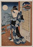 Utagawa Kunisada - Autumn moon over Miho - Google Art Project.jpg