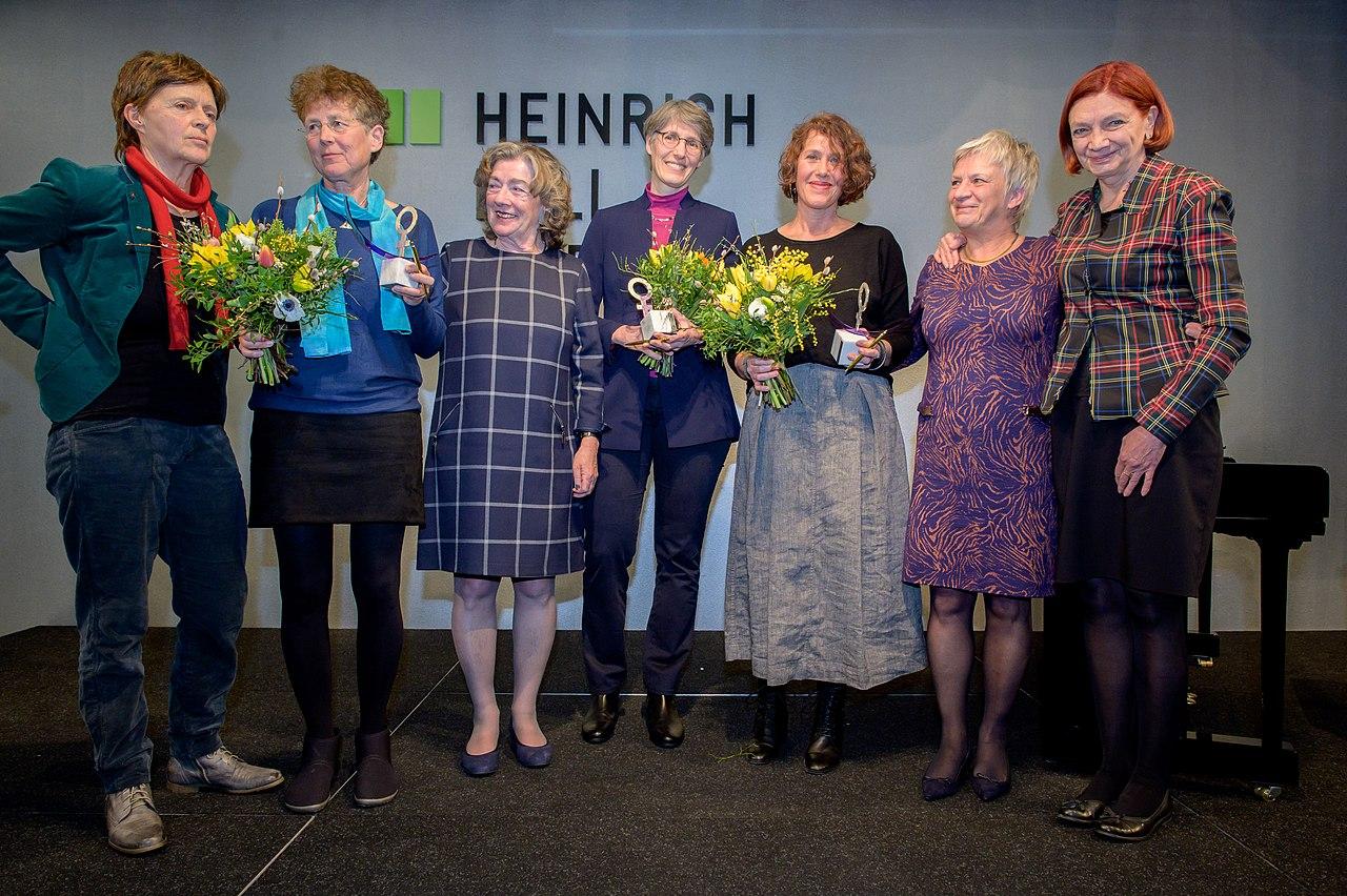 V.l.n.r. Barbara Binek, Kristina Hänel, Michaele Schreyer, Natascha Nicklaus, Nora Szász, Barbra Unmüßig, Jutta Wagner (47291479741).jpg