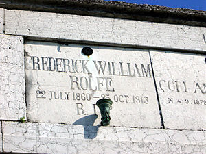 Frederick Rolfe - Rolfe's grave on San Michele, Venice