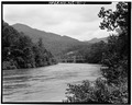 VIEW OF BRIDGE FROM SOUTHEAST - North Carolina Route 1314 Bridge, Spanning Toe River, Relief, Mitchell County, NC HAER NC,100-REL.V,1-1.tif