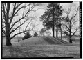VIEW OF WEST MOUND FROM THE EAST (1986) - Poplar Forest, State Route 661, Forest, Bedford County, VA HABS VA,10-BED.V,1-40.tif