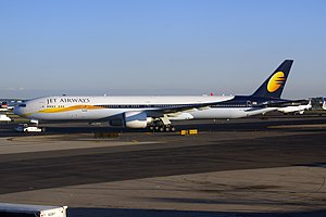 Jet Airways - A Boeing 777 of Jet Airways at Newark Liberty International Airport