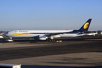 Jet Airways - A Boeing 777 of Jet Airways at Newark Liberty International Airport