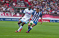 Valais Cup 2013 - OM-FC Porto 13-07-2013 - Rod Fanni et Marat Izmaylov 1.jpg