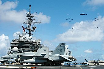 USS Kitty Hawk kicks off Exercise Valiant Shield, the largest war games of the US Navy since the Vietnam War.