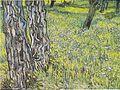 Van Gogh - Blühende Wiese mit Baumstämmen und Löwenzahn.jpeg