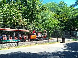 "Allan Herschell Company - S-24 Iron Horse 24"" gauge train at Van Saun County Park in Paramus, New Jersey"