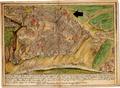 Veduta města Znojma s vyznačeným dominikánským klášterem.png