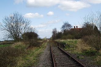 Verney Junction railway station - A March 2005 view taken from the approximate area of the top image from 1983