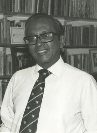 Vernon Corea - Vernon Corea, the BBC's Ethnic Minorities Adviser and broadcaster, at his home in Wimbledon Village, London in 1985.