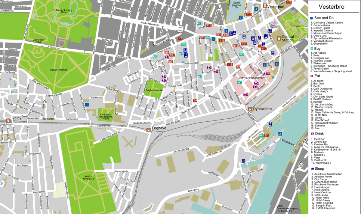 CopenhagenVesterbro Travel guide at Wikivoyage