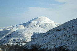 Snow-covered mountains near Belt