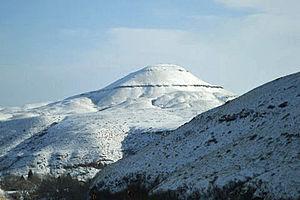 Belt, Montana - Snow-covered mountains near Belt