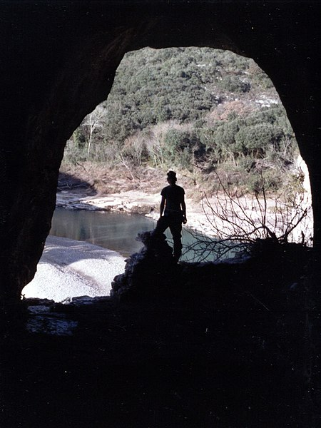 View from the La baume cave