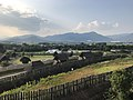 View from turret in Southern Inner City in Yoshinogari Historical Park (northwest).jpg