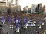 View in front of Hakata Station at dusk 20181122.jpg