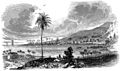 View of Kealakekua Bay from the village of Kaʻawaloa in the 1820s.jpg
