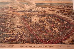 First and Second Battles of El Teb - View of the Battle of El Teb 29 February 1884