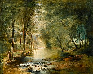 John Gendall - View on the Avon by Gendall, at the Royal Albert Memorial Museum in Exeter