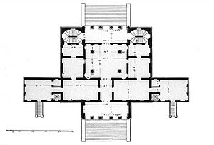 Villa Cornaro - Ground plan by Bertotti Scamozzi, 1781