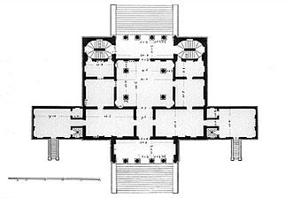 Villa Cornaro - Ground plan by Bertotti Scamozzi, 1781