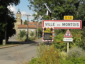 Ville-au-Montois (Meurthe-et-M.) city limit sign.JPG