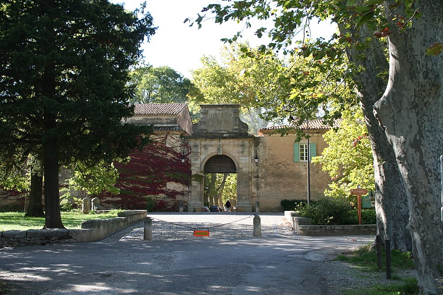 Villeneuvette (Hérault) - entrée.