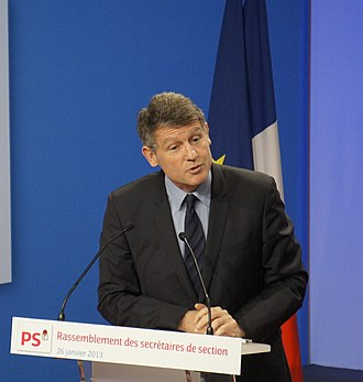 French Socialist Party presidential primary, 2017 - Vincent Peillon speaking at the Maison de la Mutualité in 2013