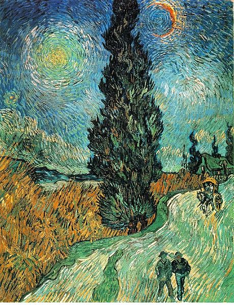 File:Vincent van Gogh - Road with Cypress and Star.JPG