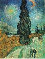 Vincent van Gogh - Road with Cypress and Star.JPG