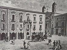 Bellini's birthplace, the Palazzo dei Gravina Gruyas, Catania, circa 1800 (Source: Wikimedia)