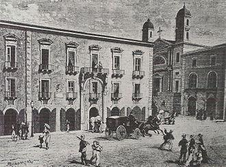 Vincenzo Bellini - Bellini's birthplace, the Palazzo dei Gravina Gruyas, Catania, circa 1800