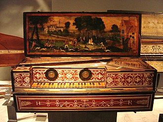 Fitzwilliam Virginal Book - Virginal made by Ruckers