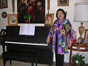 Virginia Zeani - Virginia Zeani at home in her music room in Florida