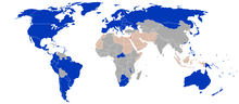 Citizens of countries in blue enjoy visa free access (though note the exception for German citizens born before 1928), citizens of countries in gray need a visa and citizens of countries in red need approval of the Israeli government. Egyptian citizens do enjoy visa free travel for some visits with overland entry through Taba