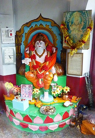 Vishvakarman - Vishwakarma statue in temple, Mandi, Himachal Pradesh, India.