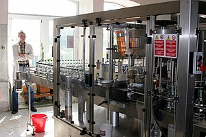 Bottling company - Vodka bottling machine, Shatskaya Vodka Shatsk, Russia