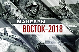 military exercise in Vostok, Russia