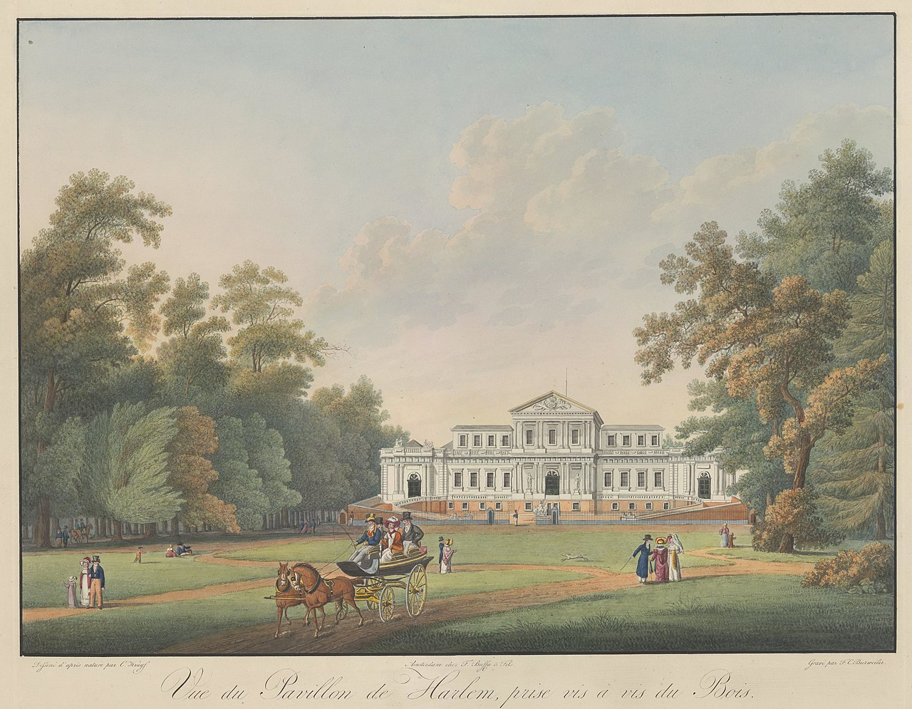 file vue du pavillon de harlem prise vis a vis de bois frederik christiaan bierweiler 1815. Black Bedroom Furniture Sets. Home Design Ideas
