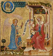 Hohenfurth Altarpiece - Annunciation