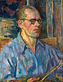 Wąsowicz Blue self-portrait.jpg