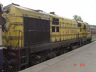 Dehradun railway station - Image: WDM 2 engine at Dehradun