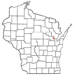 Location of Angelica, Wisconsin