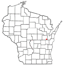 Location of the town of Kaukauna, Wisconsin