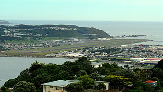 Wellington International Airport - Wellington Airport from Mt Victoria
