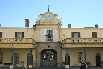 Heritage Western Cape - Exit gate of the Castle of Good Hope provincial heritage site, Cape Town. The first site in South Africa to be formally protected by heritage law