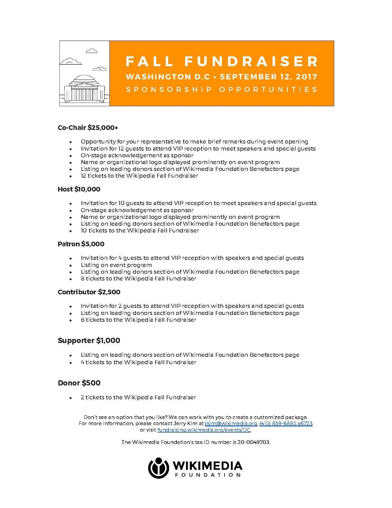 Benefactor sponsorships wikimedia foundation sponsorship opportunities stopboris Choice Image