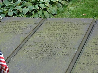 John Morin Scott - Scott's headstone