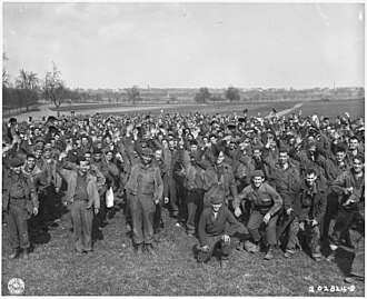 Prison escape - 1,200 U.S. soldiers escape from POW camp at Limburg, March 1945